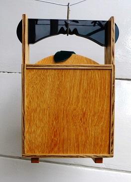 handtasje hout acrylaat